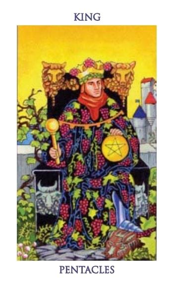 Carta Tarot Rey de Oros